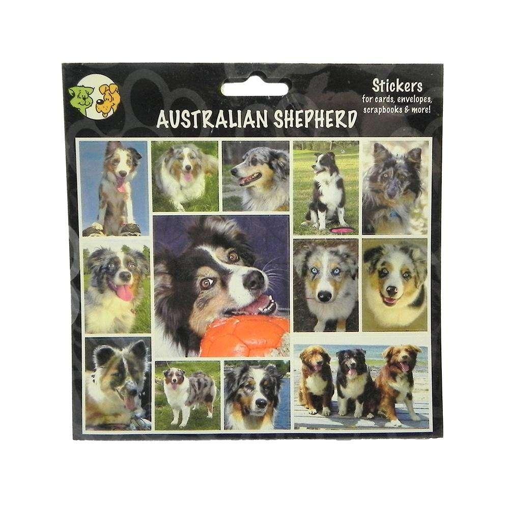 Arf Art Dog Sticker Pack Australian Shepherd