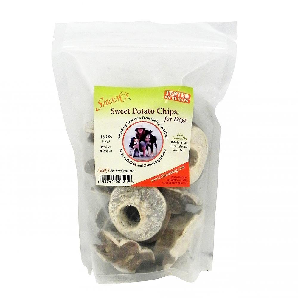 Snook's GMO-Free Sweet Potato Dog Chip 1 Lb Bag