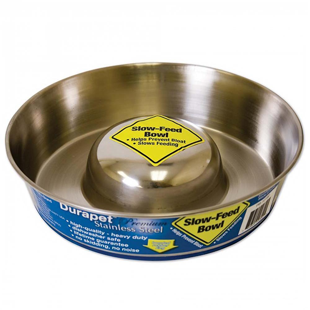 Stainless Slow Feed Dog Bowl Large