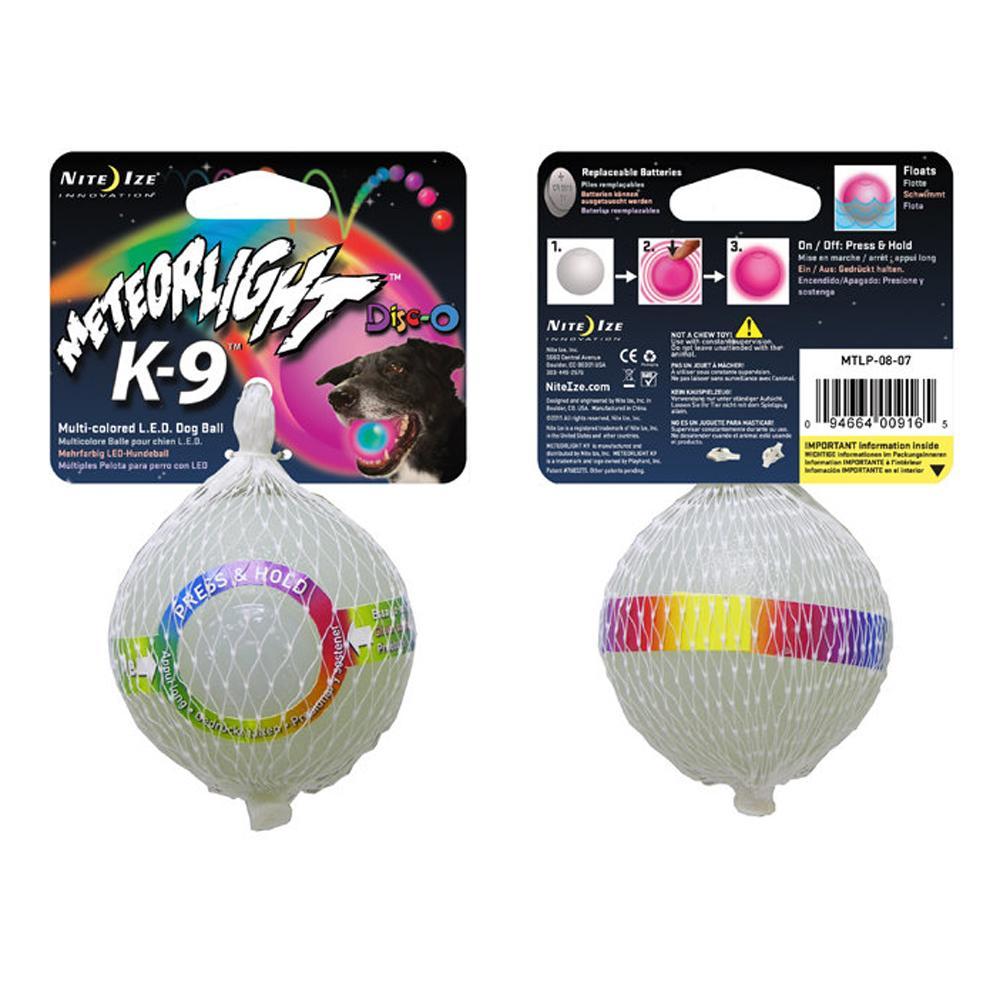 Nite Ize Meteor K9 Light Ball Disco Dog Toy