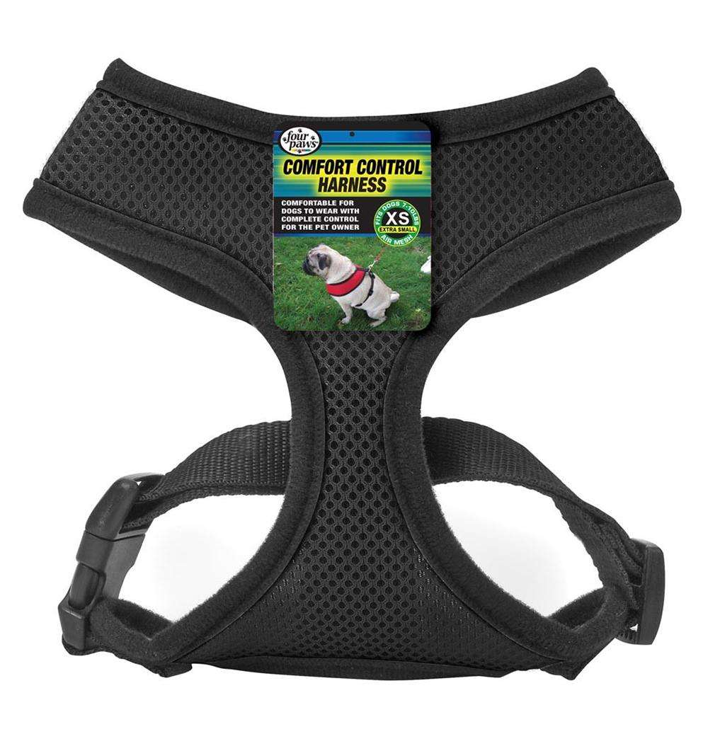 Comfort Control Dog Harness Black XSmall