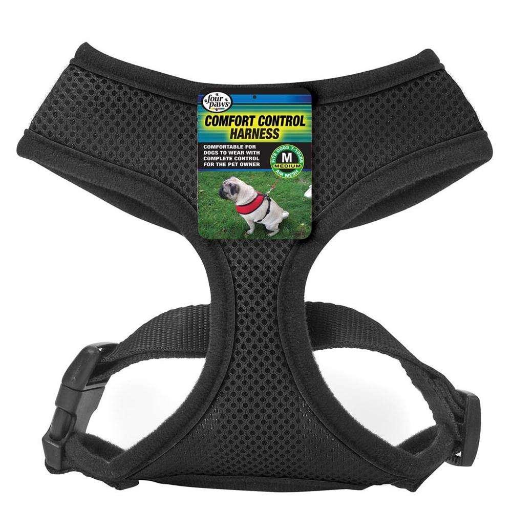Comfort Control Dog Harness Black Medium