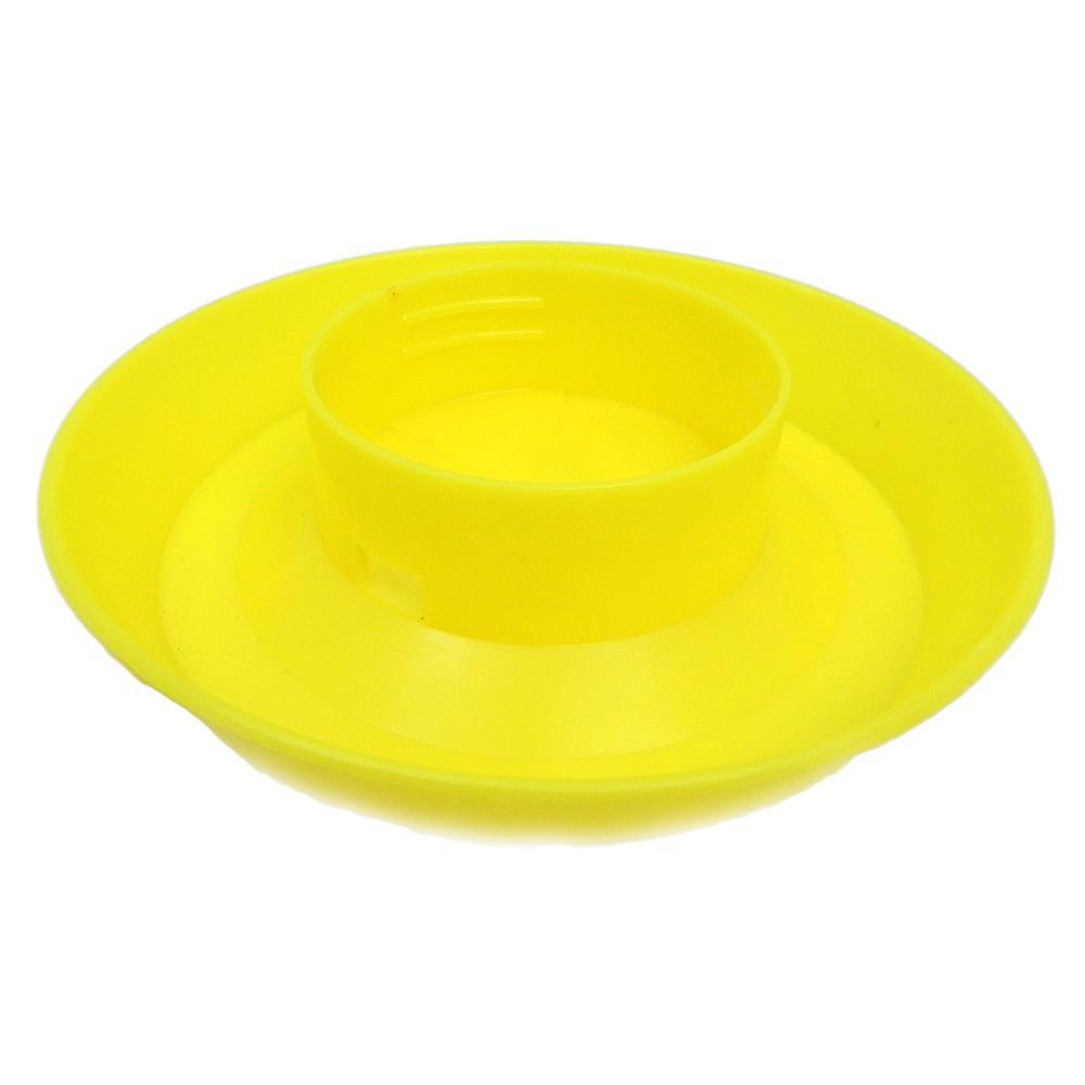 Mason Jar Bird Feeder Base Yellow