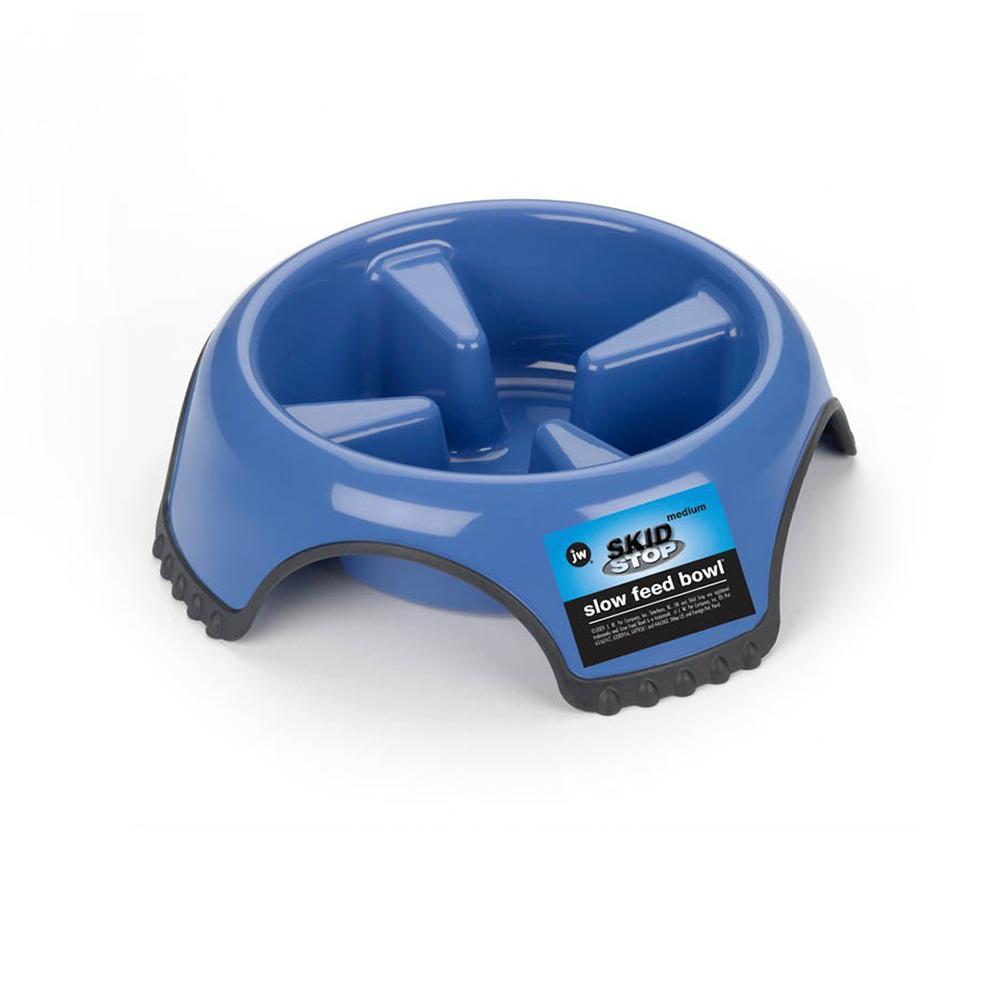 JW Slow Feed Dog Food Water Bowl Medium