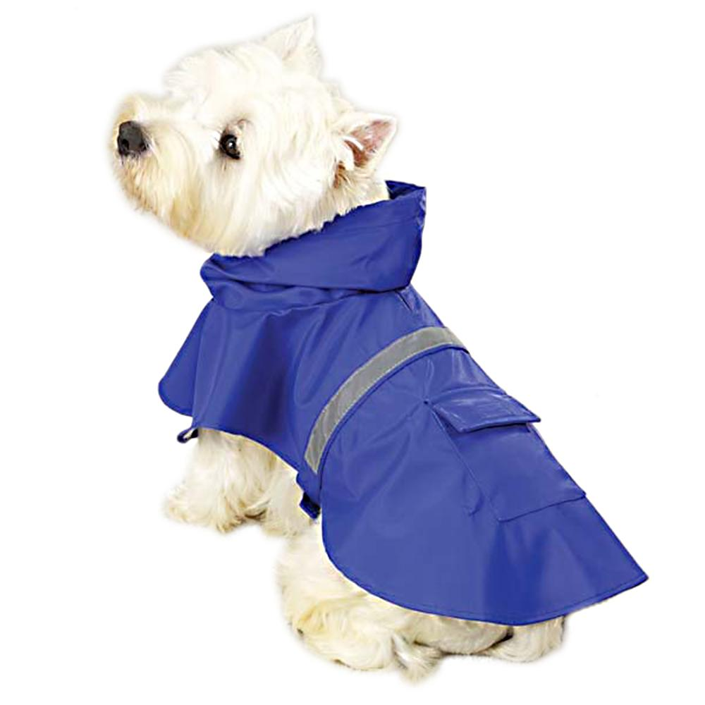 Rain Jacket for Dogs Blue Medium