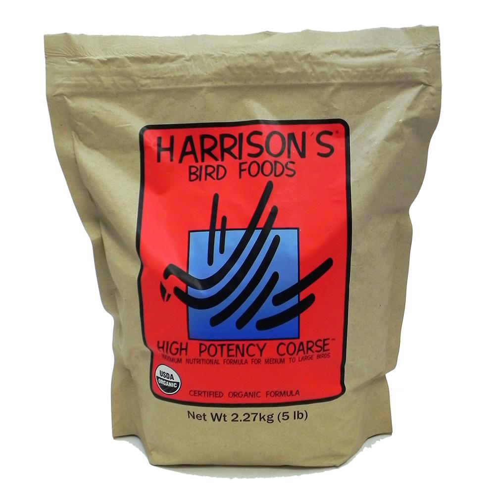Harrison's Hi Potency Organic Coarse Bird Food 5-Lb.