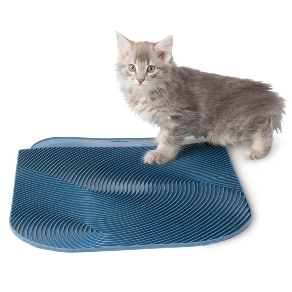 Ribbed Rubber Cat Litter Mat