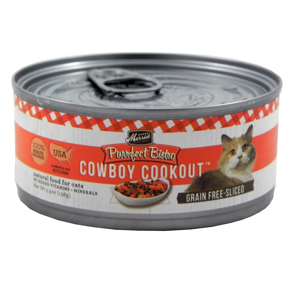Merrick Cowbow Cookout Canned Cat Food 5.5oz Case