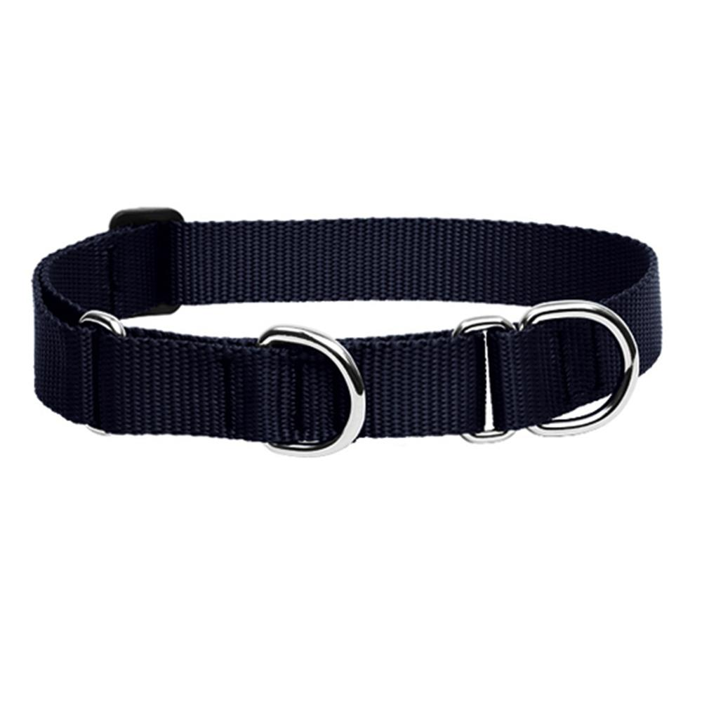 Lupine Martingale Dog Collar Black 15-22-inch