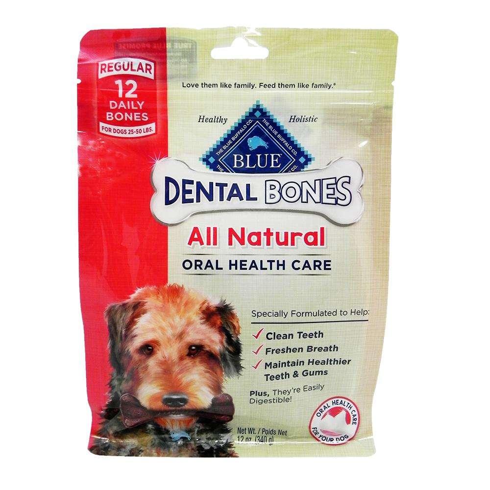 Blue Bones Regular Natural Dental Treat for Dogs 12-oz