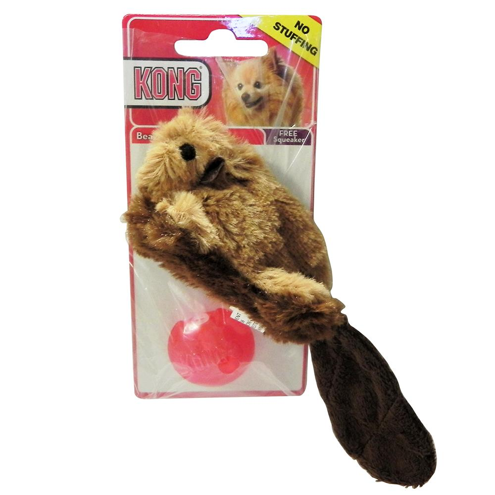 Kong No Stuffing Beaver Small Dog Toy