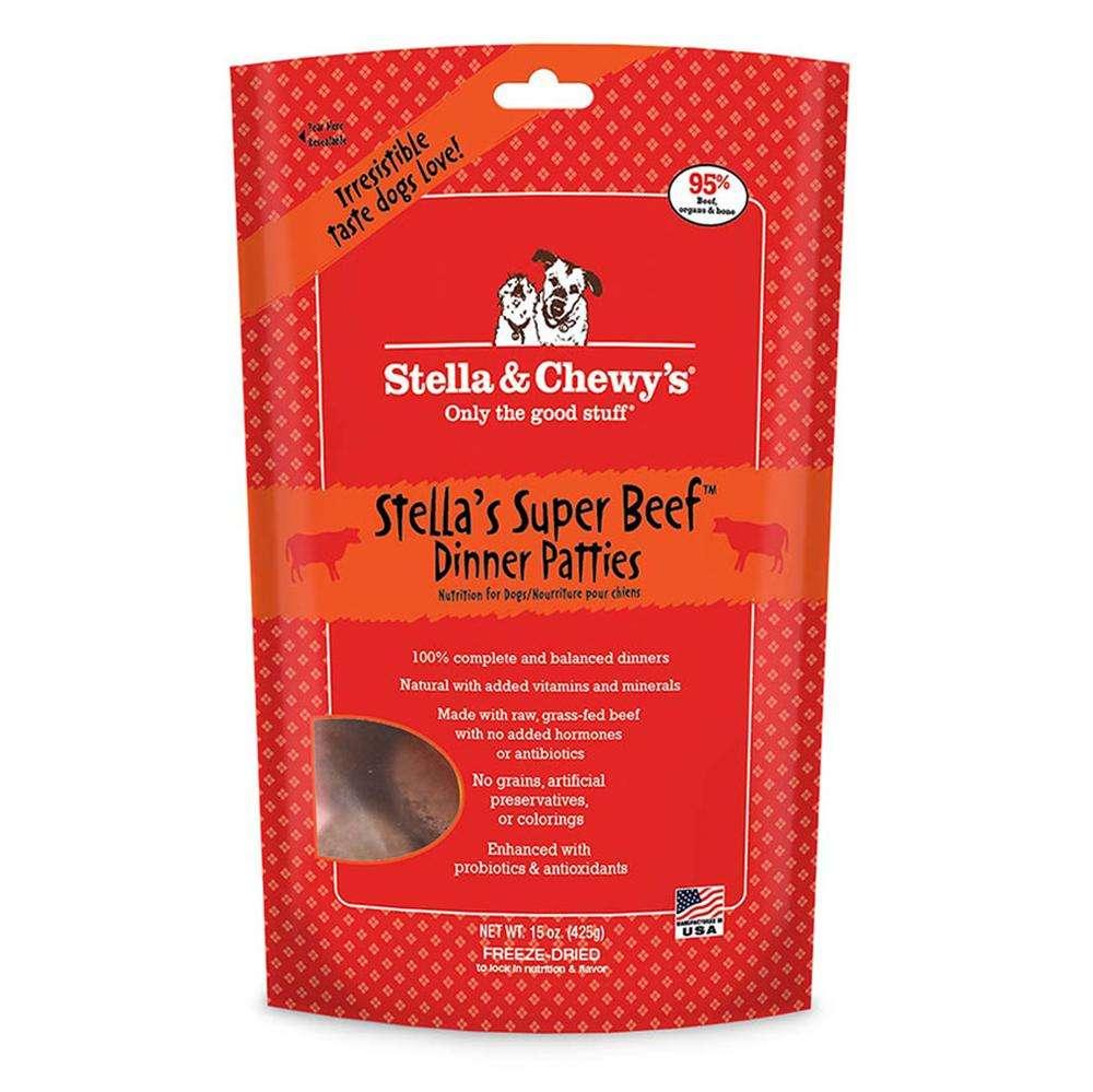 Stella Super Beef Raw Freeze Dried Dinner 16oz