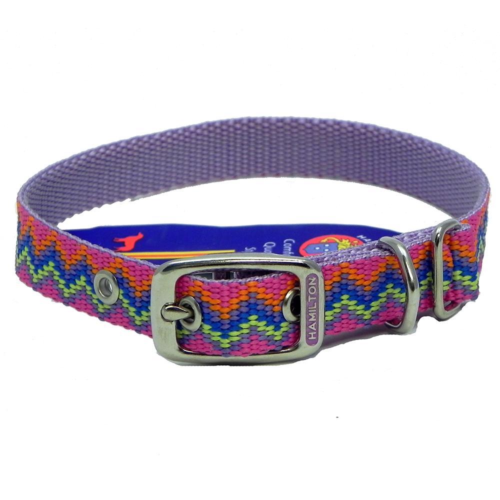 Hamilton Nylon Dog Collar Lavender Weave 5/8 x 12-inch