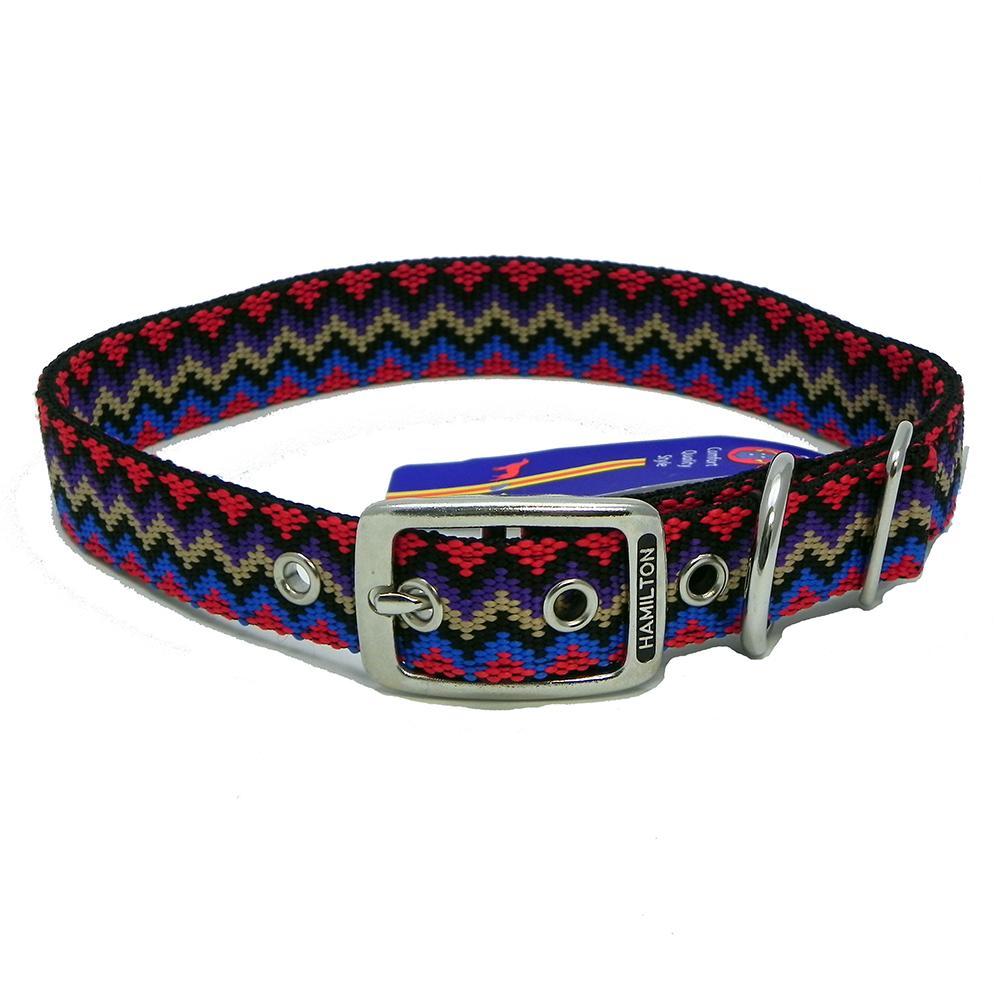 Hamilton Nylon Dog Collar Black Weave 1 x 24-inch