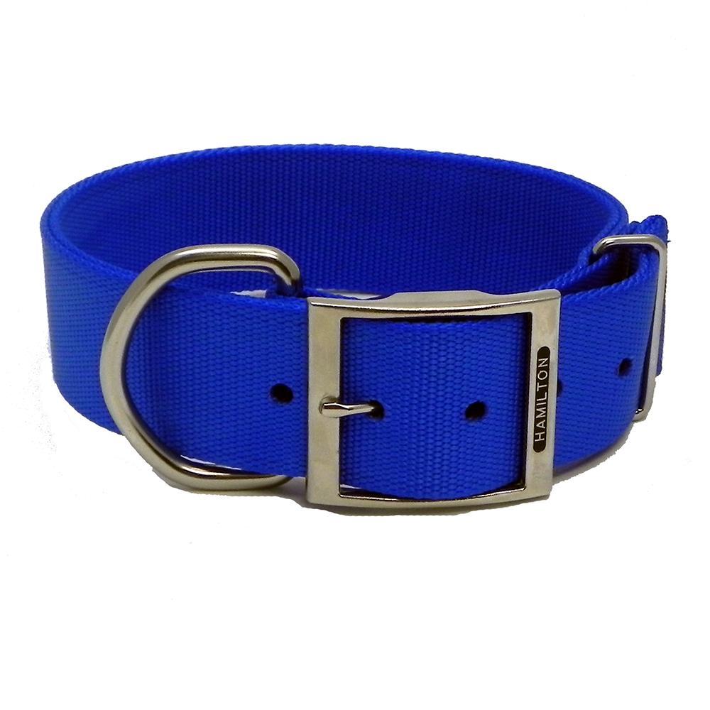 Hamilton Nylon Blue Dog Collar 1-3/4  x 28-inch