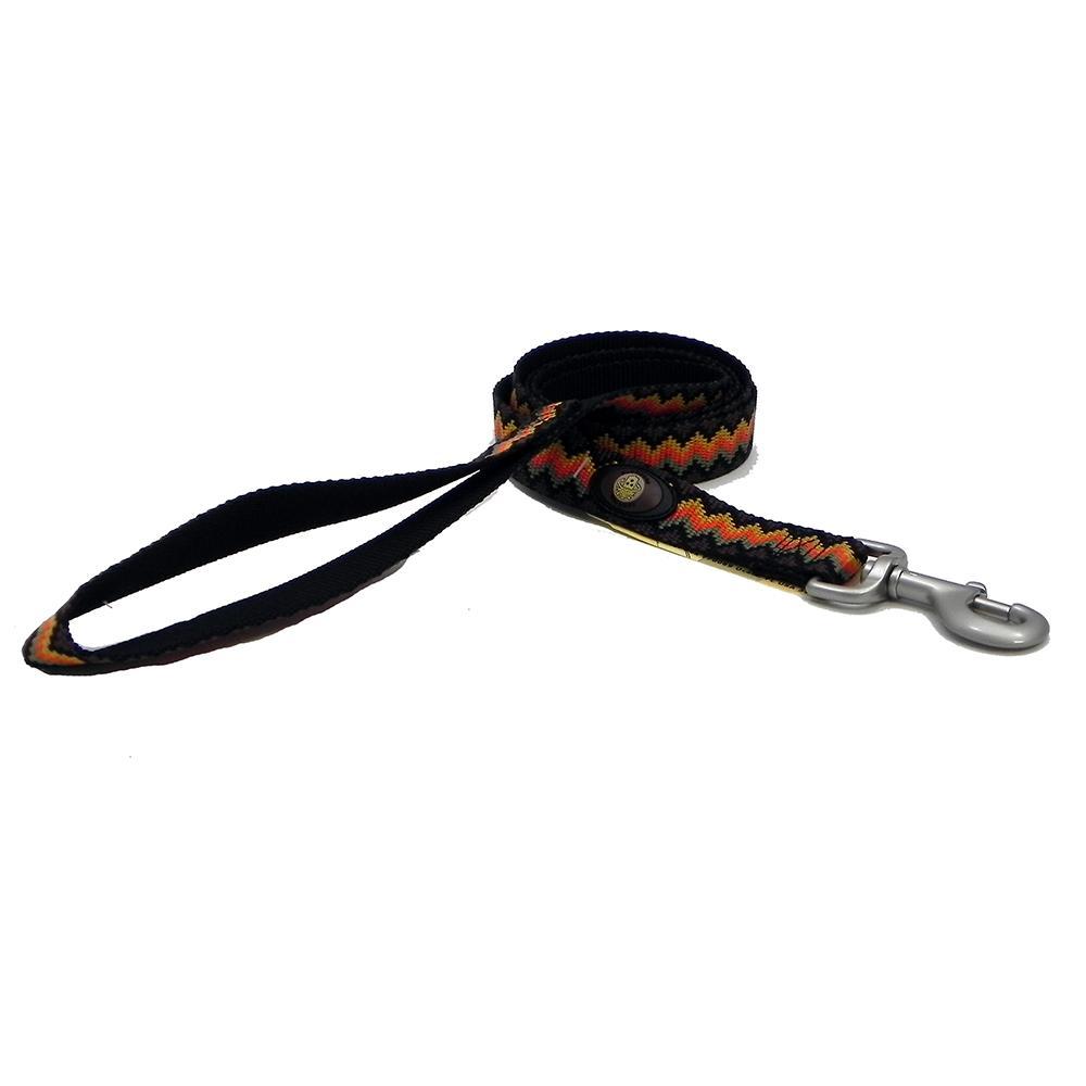 Hamilton Nylon Brown Weave Dog Leash 1-inch x 4-ft