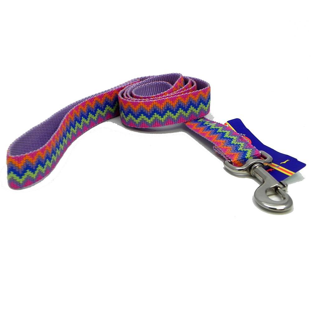 Hamilton Nylon Lavender Weave Dog Leash 1-inch x 6-ft