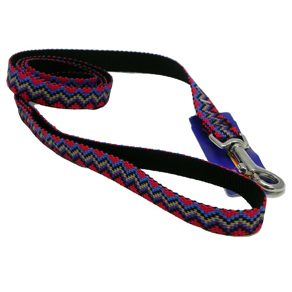 Hamilton Nylon Black Weave Dog Leash 5/8-inch x 4-ft