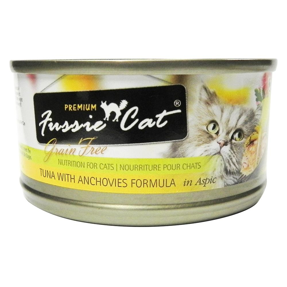 Fussie Cat Tuna Anchovy Premium Canned Cat Food 2.8 oz each