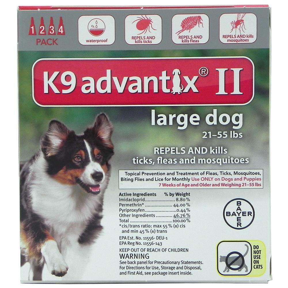 Bayer Advantix II Dog 21-55 lb 4 pack