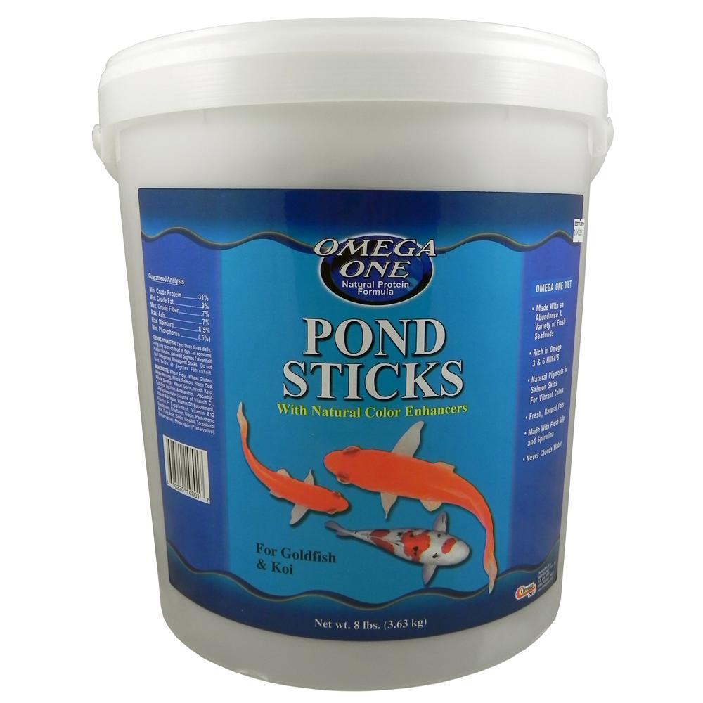 Omega one pond sticks fish food 8 lb aquar food koi for Omega one fish food