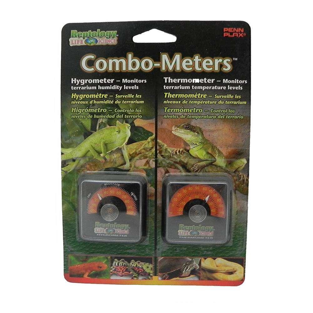 Reptology Analog Terrarium Thermometer and Hygrometer 2-pack
