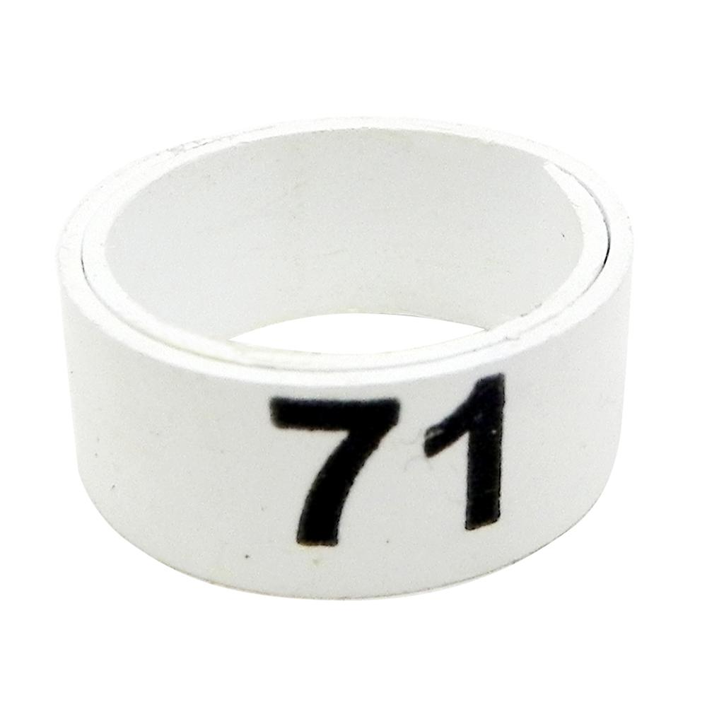 Poultry Numbered Leg Bandette White size 12 (single band)