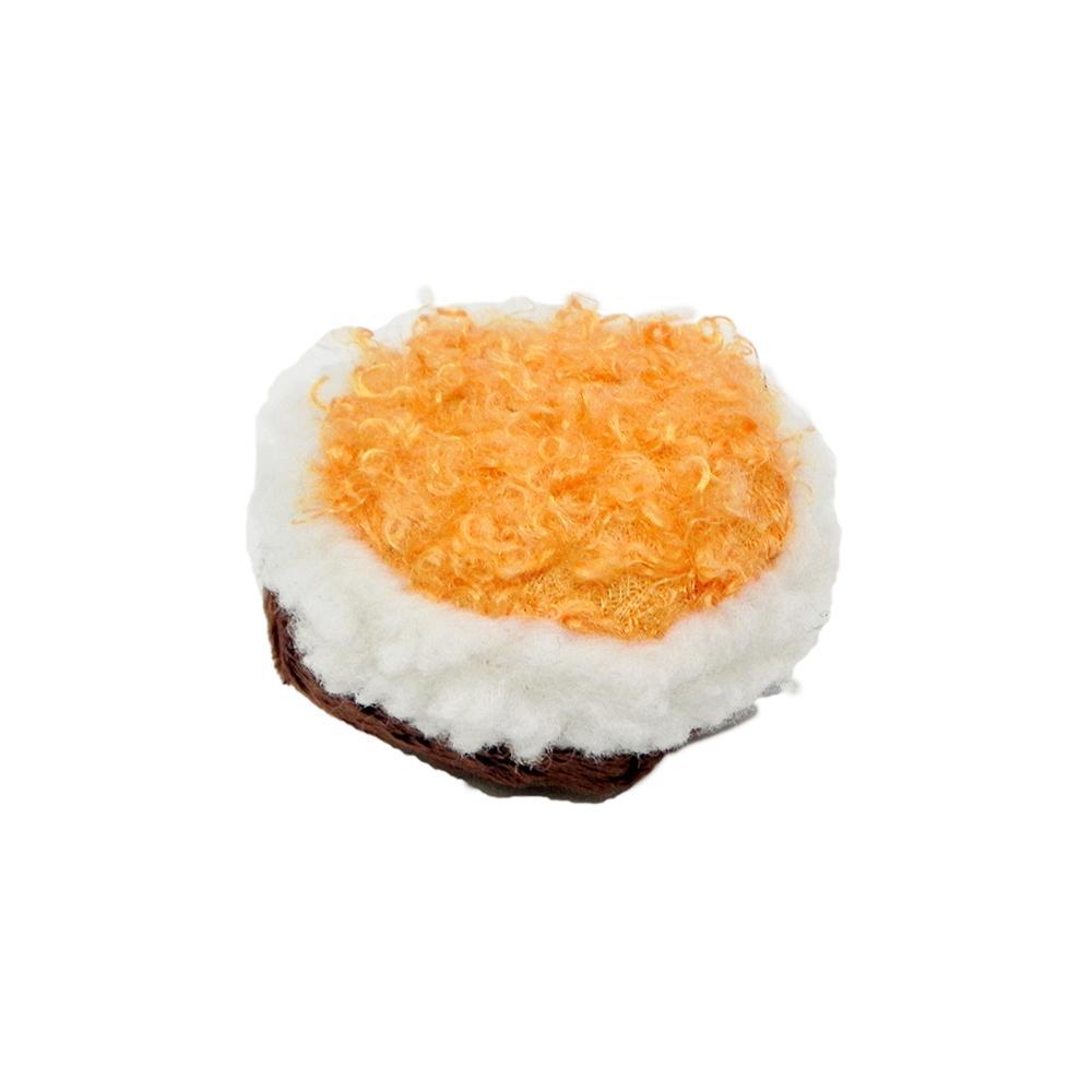 Sushi Curly Roll Catnip Cat Toy Orange