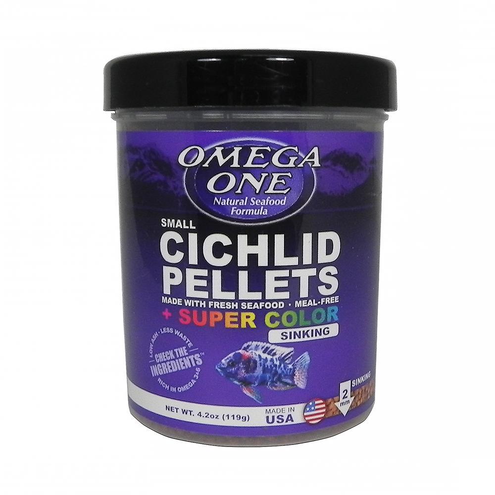 Omega One Super Color Cichlid Sm Sinking Fish Pellets 4.2-oz