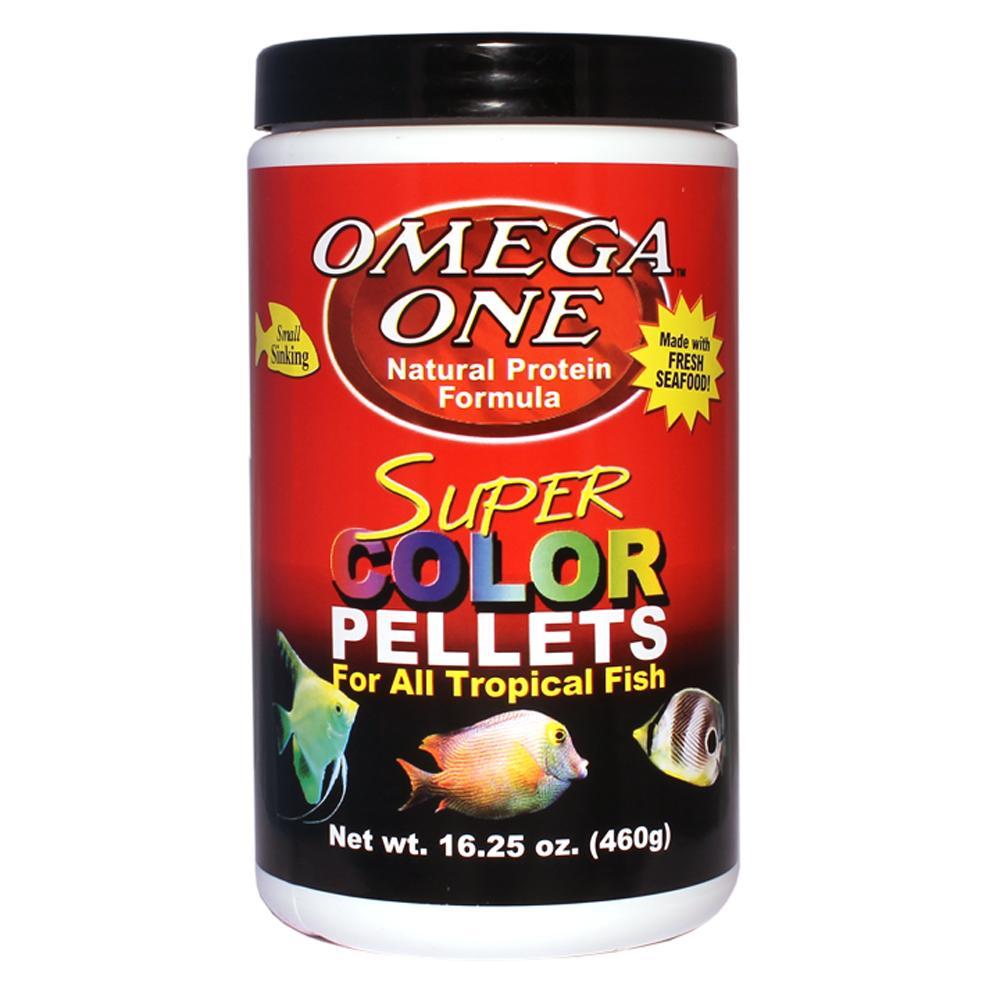 Omega One Super Color Sinking Pellets Fish Food 1-Lb.