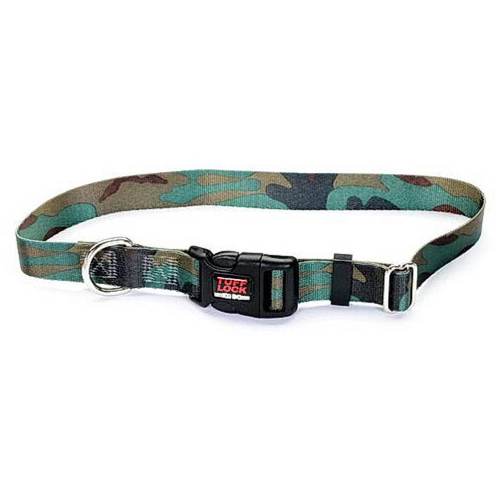 Tuff-Lock Medium Camo Adjustable Nylon Dog Collar
