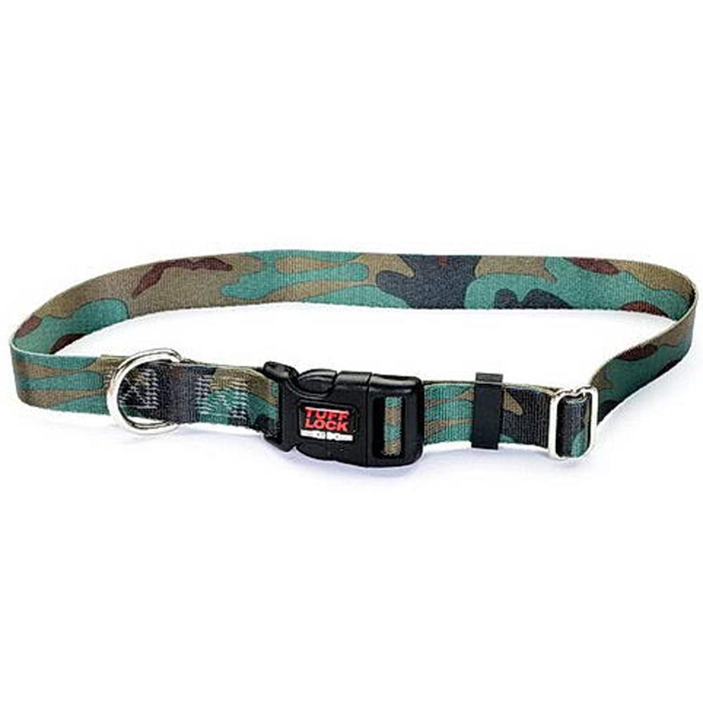 Tuff-Lock XSmall Camo Adjustable Nylon Dog Collar