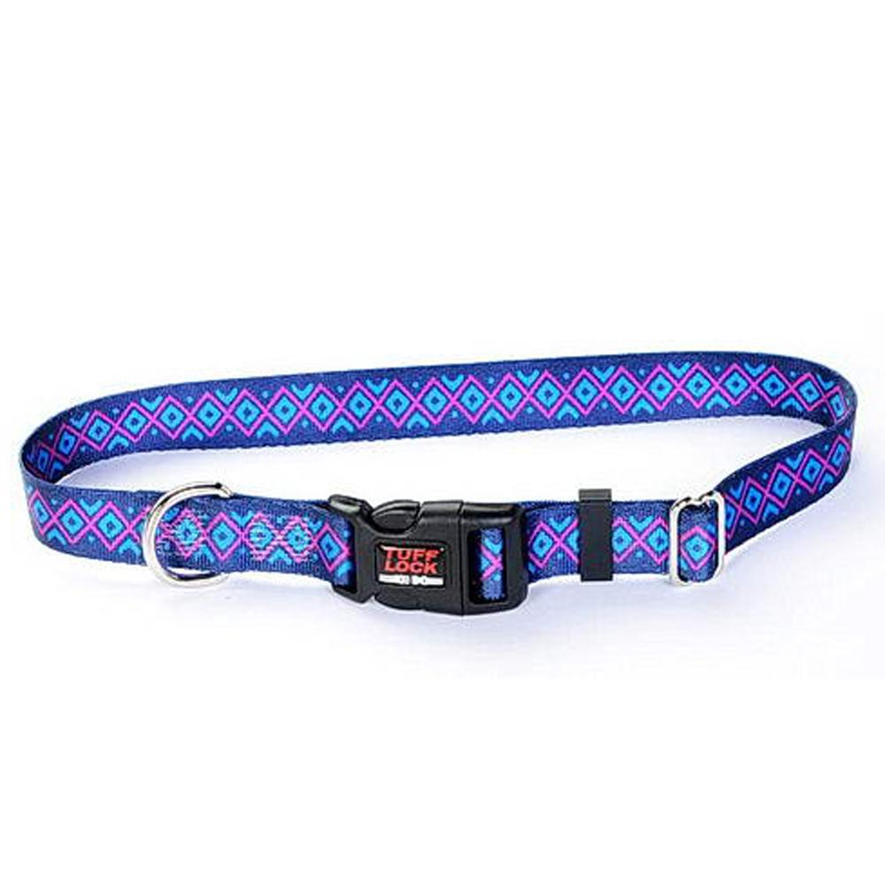 Tuff-Lock Medium Inca Adjustable Nylon Dog Collar