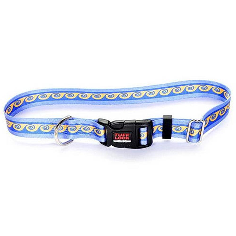Tuff-Lock Medium Waves Adjustable Nylon Dog Collar