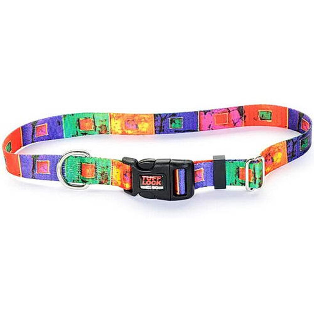 Tuff-Lock Small Stained Glass Adjustable Nylon Dog Collar