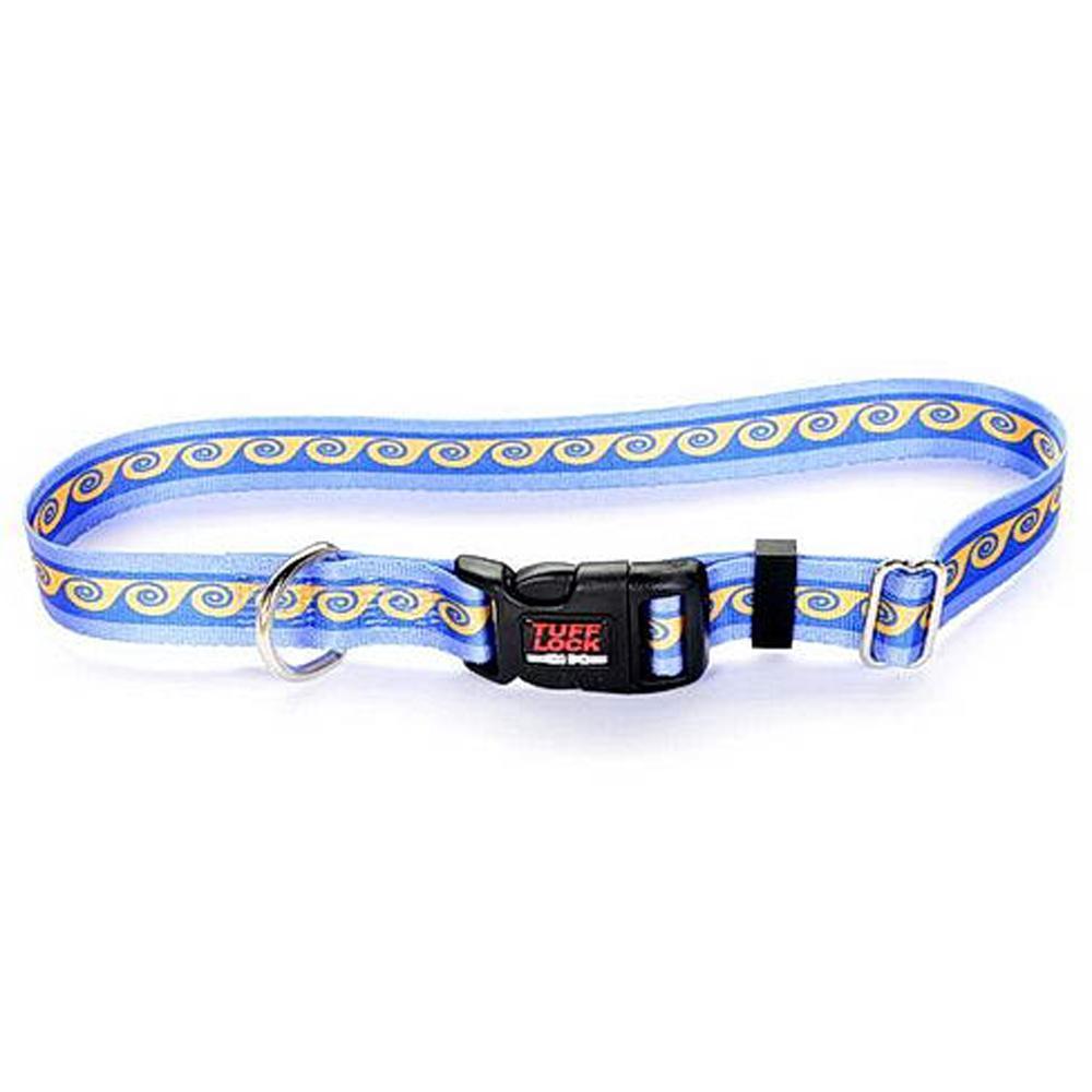 Tuff-Lock Small Waves Adjustable Nylon Dog Collar
