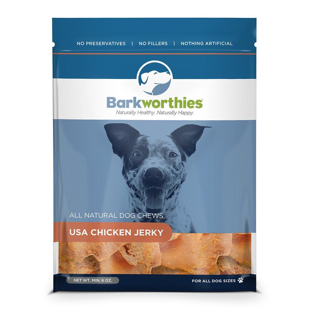 Barkworthies USA Chicken Jerky Dog Treats 6oz.