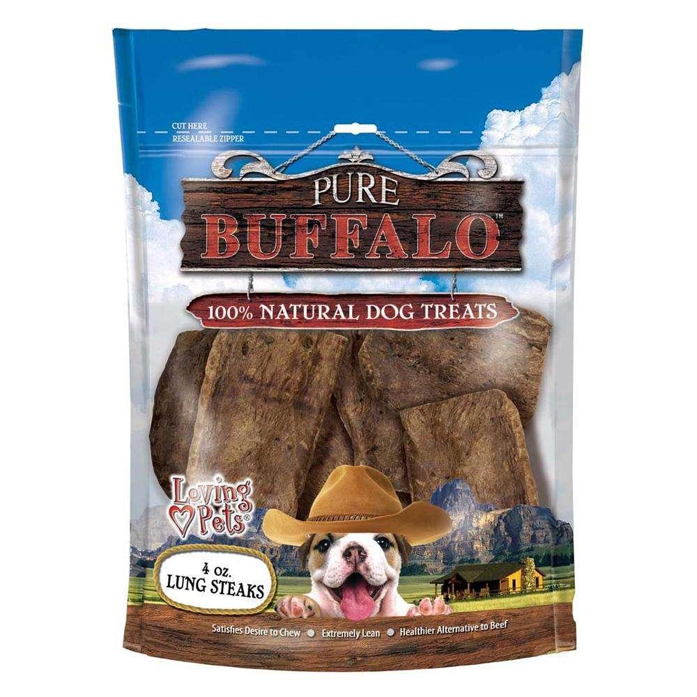 Loving Pets Buffalo Lung Steaks Dog Treat 4oz