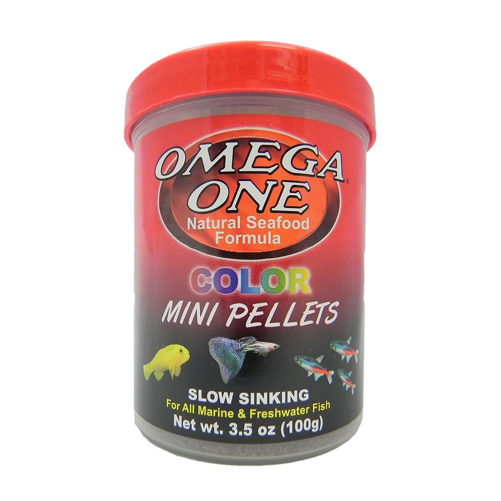 Omega Super Color Sinking Mini Pellets Fish Food 3.5oz