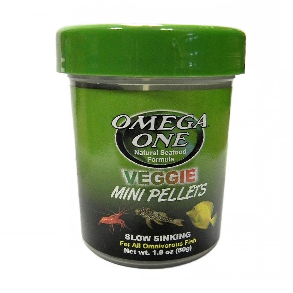 Omega Veggie Sinking Mini Pellets Fish Food 1.8oz