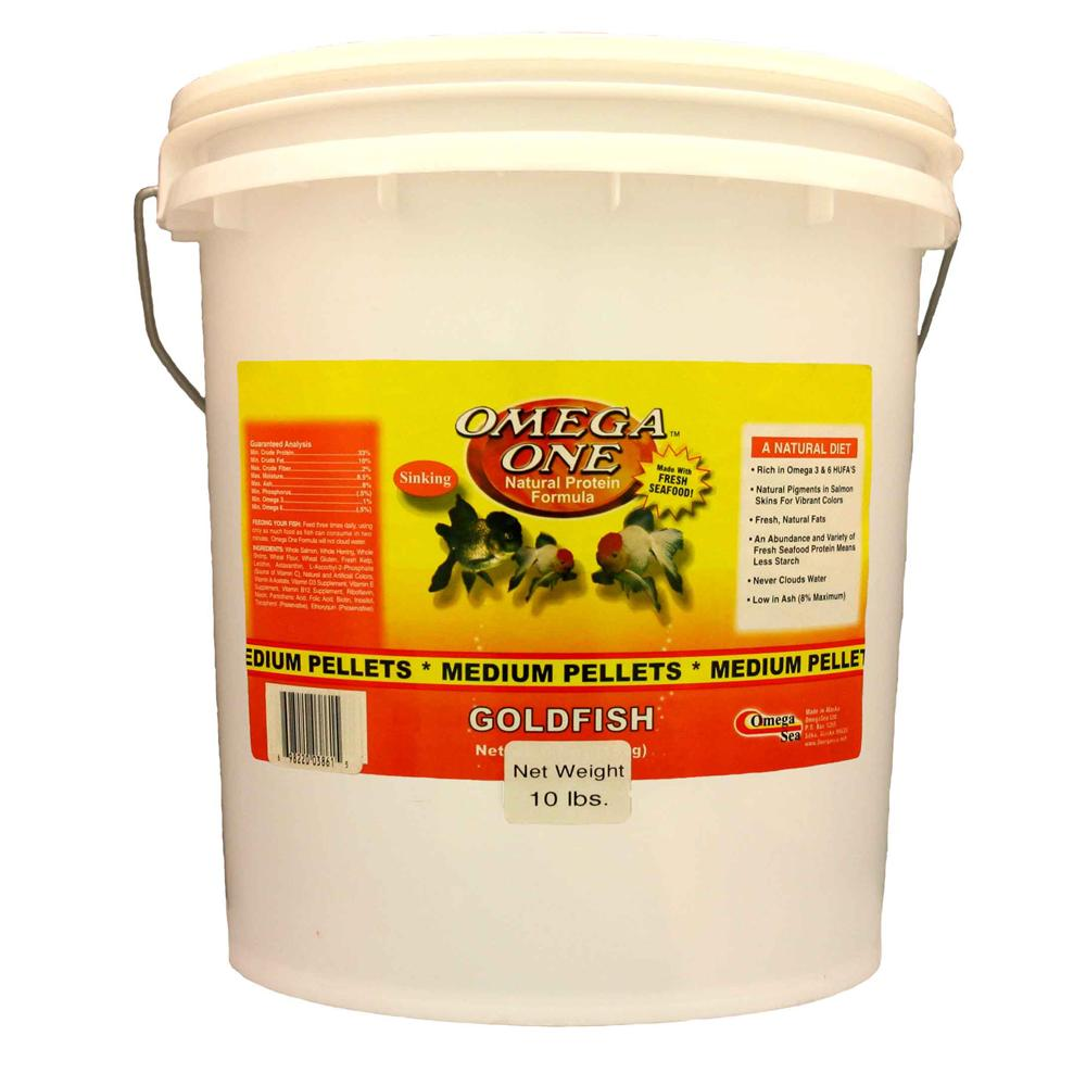 Omega One Medium Sinking Goldfish Pellet Fish Food 10-Lbs.