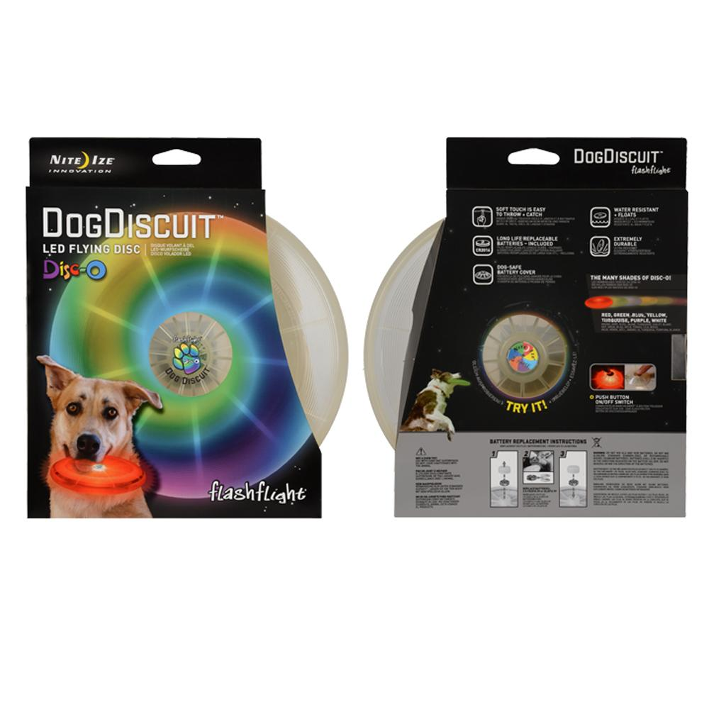 DogDiscuit Lighted LED Disc Dog Toy