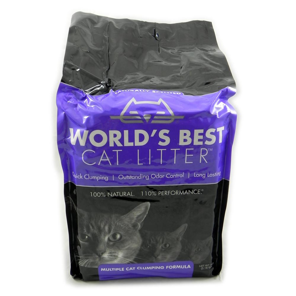 World's Best Lavender Multiple Cat Clumping Litter 7Lb.
