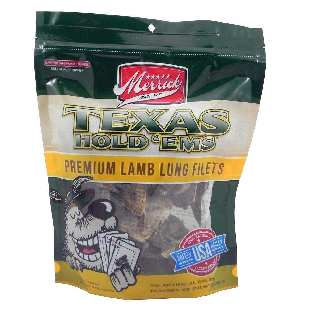 merrick texas hold ems lamb lung dog treat