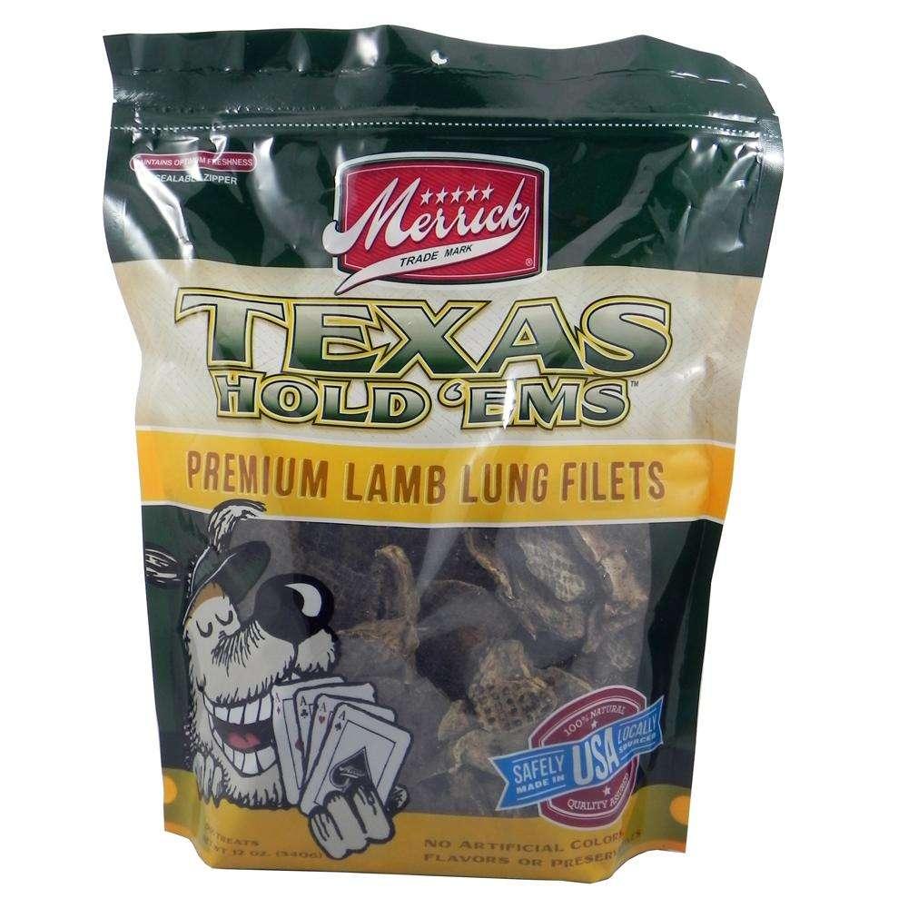 Merrick Texas Hold'Ems Natural Lamb Lung Dog Treat 12oz