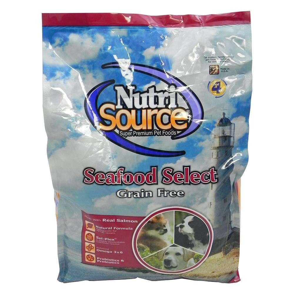 NutriSource Seafood Select Entree Grain Free Dog Food 5lb