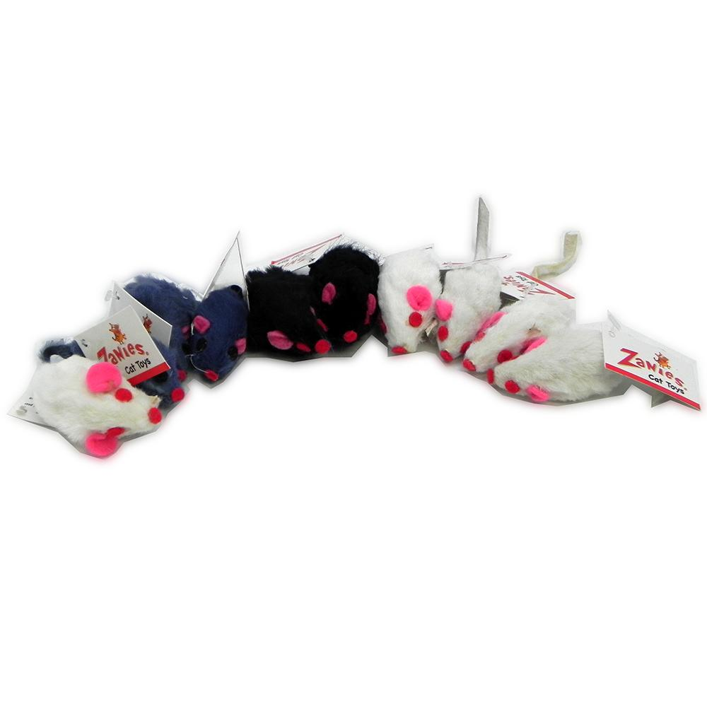 Furry Mice Small Shorthair Cat Toy 10 pack