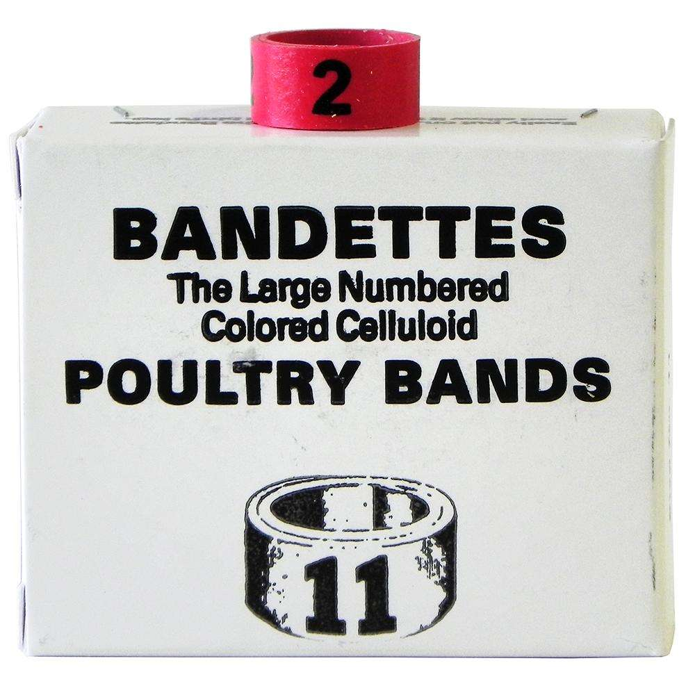 Poultry Numbered Leg Bands Red Size 11 Numbered 1-25