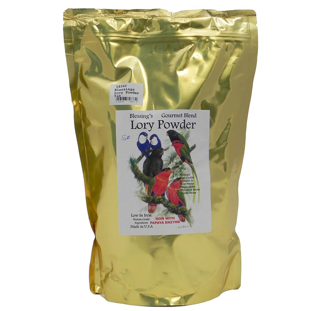 Blessing's Gourmet Lory Powder Dry Lorikeet Food 5lb