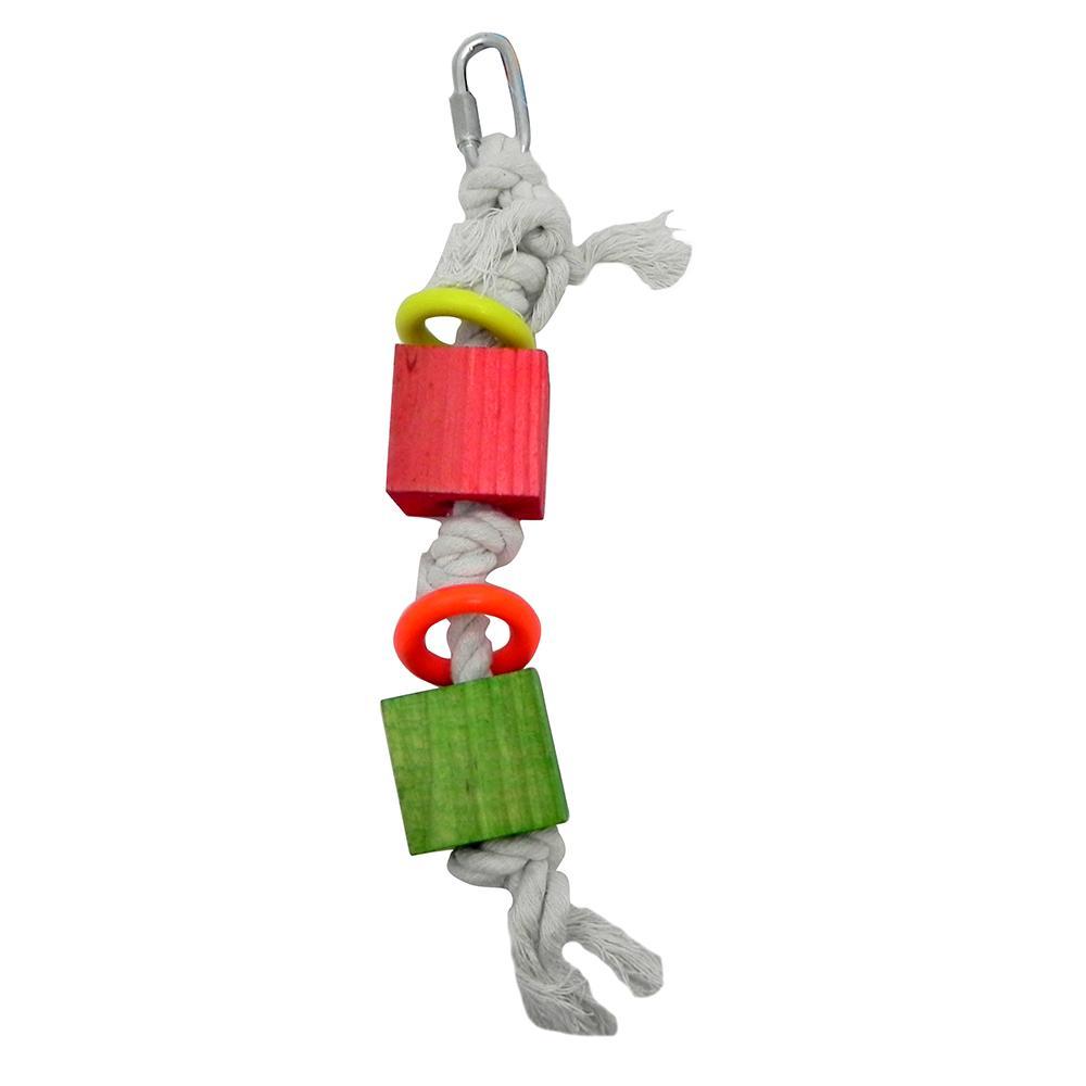 Bird Brainers Rope Toy w/ Rings Bird Toy